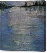 Glimmering Water Canvas Print
