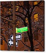 Glistening Branches On The Plaza Canvas Print