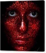 Glitter Face Canvas Print