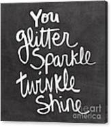 Glitter Sparkle Twinkle Canvas Print
