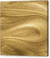 Glittering Gold Paint Canvas Print