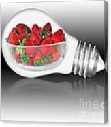 Global Strawberries Canvas Print