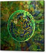 Globing Earth Irises Canvas Print