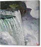 Gloomy Day At Niagara Falls Canvas Print