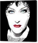 Gloria Swanson - Edith Piaf Canvas Print