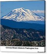 Glorious Mount Adams Canvas Print