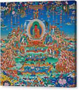 Glorious Sukhavati Realm Of Buddha Amitabha Canvas Print