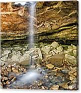 Glory Hole Waterfall Portrait Canvas Print