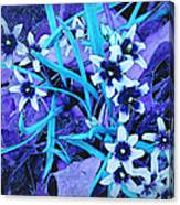 Glory Of The Snow - Violet And Turquoise Canvas Print