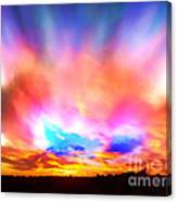 Glory Sunset Canvas Print