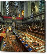 Gloucester Cathedral Choir Canvas Print