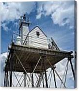 Gloucester Harbor Beacon Station Canvas Print