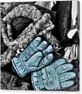 Gloves And Frost Canvas Print
