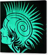 Glow In The Dark Tribal Punk Canvas Print