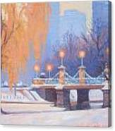 Glow On The Bridge Canvas Print