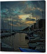 Glowing Aker Brygge Canvas Print