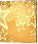 Glowing Background With Stars, Studio Canvas Print