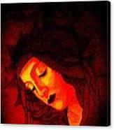 Glowing Botticelli Madonna Canvas Print