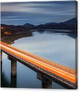 Glowing Bridge Canvas Print