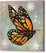 Glowing Butterfly Canvas Print