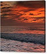 Glowing Cherry Sunset Canvas Print