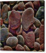 Glowing Colorful Rocks Canvas Print