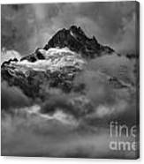 Glowing Glaciers In The Tantalus Range Canvas Print