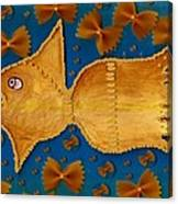Glowing  Gold Fish Canvas Print