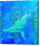Glowing Hammerhead Shark Canvas Print