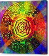 Glowing Mandala Canvas Print