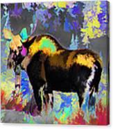 Electric Moose Canvas Print