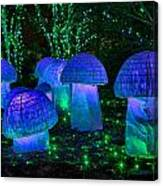 Glowing Mushrooms Canvas Print