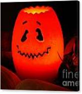 Glowing Pumpkin Canvas Print