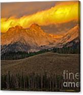 Glowing Sawtooth Mountains Canvas Print
