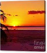 Glowing Sunset Canvas Print