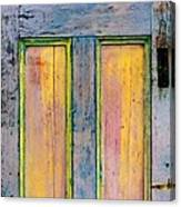Glowingthrough Painted Door Canvas Print