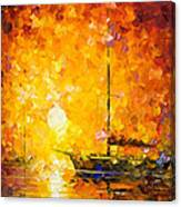 Glows Of Passion - Palette Knife Oil Painting On Canvas By Leonid Afremov Canvas Print
