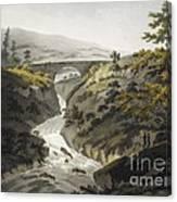 Glyn Diffwys Stone Bridge, Wales, 1800 Canvas Print