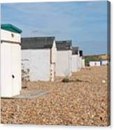 Glyne Gap Beach Huts In Sussex Canvas Print