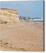 Glyne Gap Beach In England Canvas Print