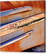 Gmc 4000 V6 Pickup Truck Side Emblem Canvas Print
