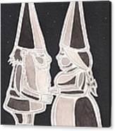 Gnome Kiss Canvas Print