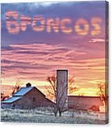 Go Broncos Colorado Country Canvas Print