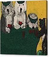 Go Fish Said The Cat Canvas Print