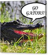 Go Gators Greeting Card Canvas Print
