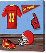Go Team Tribute To Football Canvas Print
