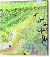 Goa, India, 1998 Oil On Paper Canvas Print