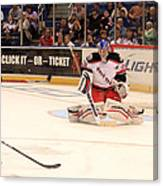 Goalie Protects Canvas Print