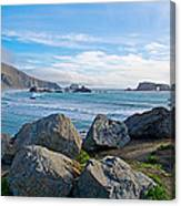 Goat Rock State Beach Near Russian River Outlet Near Jenner-ca Canvas Print