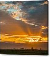 God Beams And Sunrise Canvas Print
